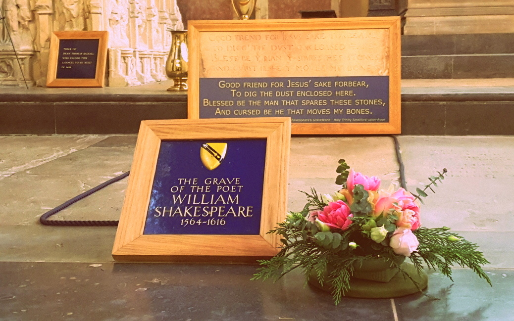 Visit the grave of William Shakespeare