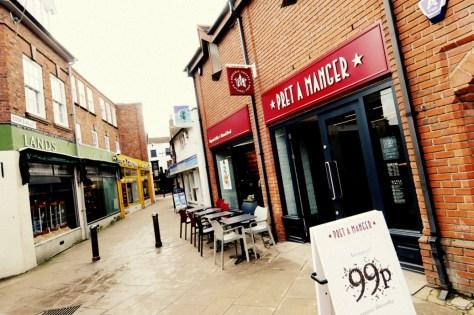 Pret A Manger, one of the best pushchair-friendly cafes in Stratford-upon-Avon ©Stratfordblog.com