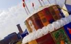 The big birthday cake made by Escape Arts ©Stratfordblog.com
