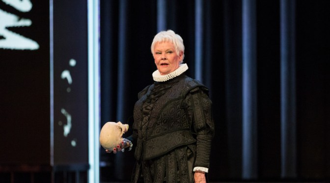 Judi Dench in SHAKESPEARE LIVE! FROM THE RSC Photo by Helen Maybanks