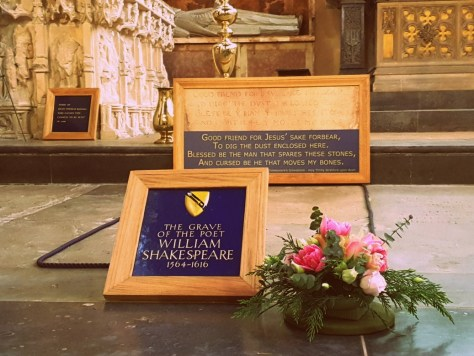 TO GRAVE... The final resting place of William Shakespeare at Holy Trinity Church ©Stratfordblog.com