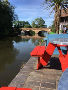 Dining at the edge of the River Avon, literally, at Cox's Yard
