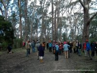 We gather to acknowledge the Traditional Owners of this land, the Taungurung people, before descending into the valley.