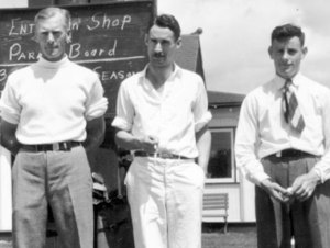 Ford Wray (from left) one of the most dominant players in Invitational history. Len Wiley and Gregor Bain, both championship qualifiers during the decade.