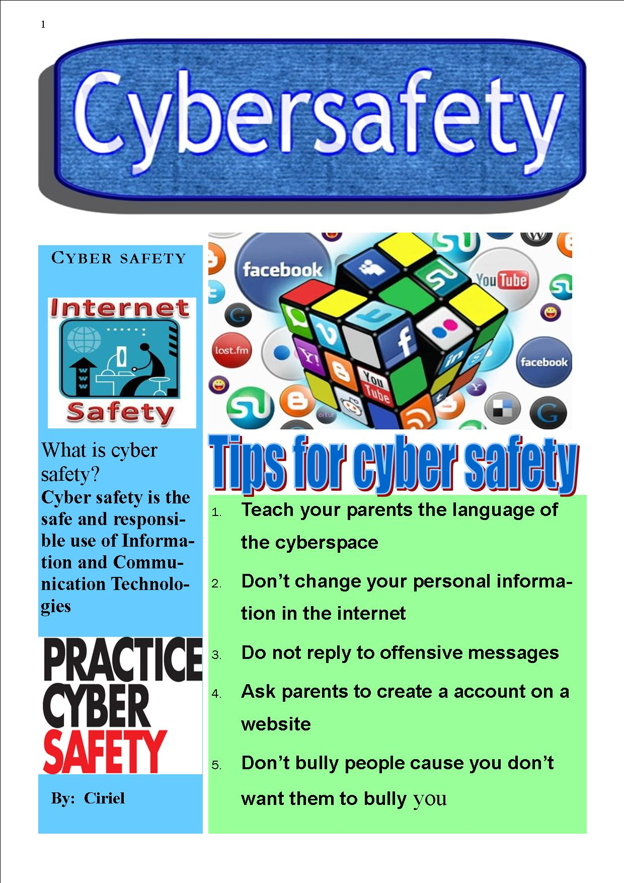 Year 7 Cybersafety Posters