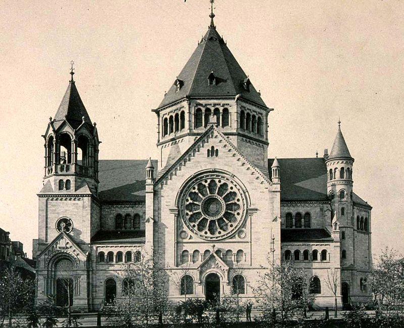 Strasbourg_synagogue_quai_Kléber_vue_élévation_façade_1898-1940