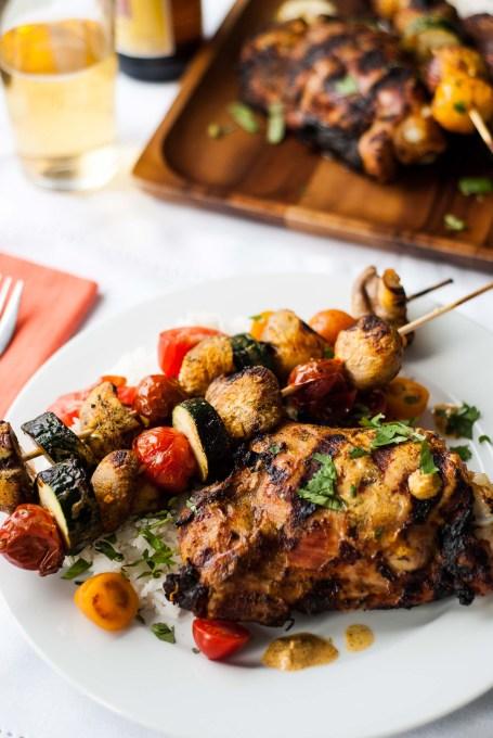 BBQ Turkey Thighs with a Tandoori Marinade