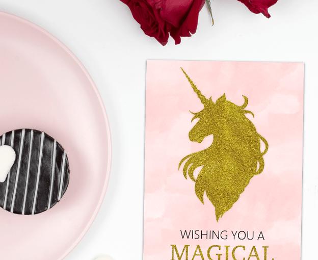 Valentine Unicorn Cards - Free Printable