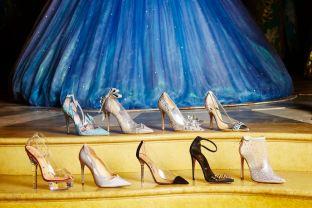 Cinderella Designer Slippers on display