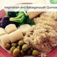Where do you draw your inspiration from? Babaganoush Quinoa recipe