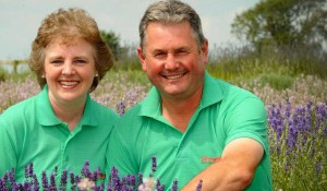 Sarah and Russell owners of the Strawberry Garden Centre Uttoxeter