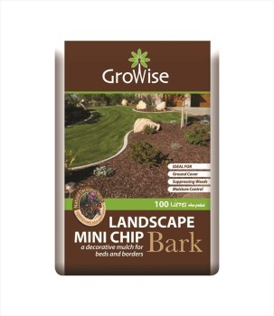 Growise Landscape Mini-Bark-100 litres available from Strawberry Garden Centre, Uttoxeter