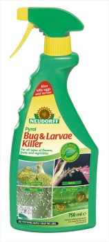 Neudorff Pyrol_Bug &_Larvae_Killer 750ml available from Strawberry Garden Centre Uttoxeter