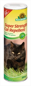 Neudorff Super_Strength_Cat_Repellent 500g available from Strawberry Garden Centre Uttoxeter