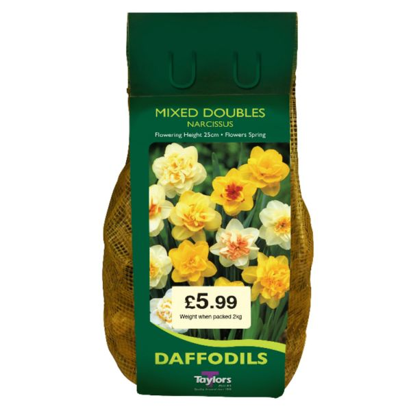 Taylors Bulbs DC73 Mixed Doubles Daffodils available from Strawberry Garden Centre, Uttoxeter