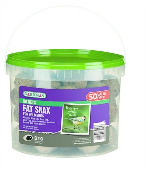 Gardman A04225D Fat Snax No Net Tub of 50 available from Strawberry Garden Centre, Uttoxeter