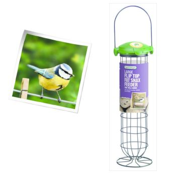 Gardman A04243 large flip top fat snax feeder available from Strawberry Garden Centre, Uttoxeter