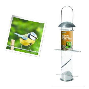 Gardman A04255 large heavy duty sunflower heart feeder available from Strawberry Garden Centre, Uttoxeter