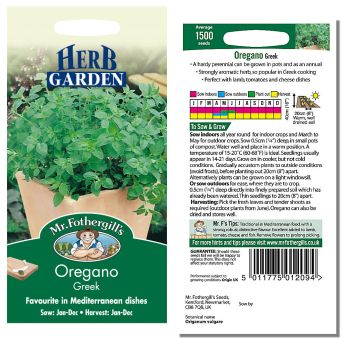Mr. Fothergill Oregano Greek Seeds available from Strawberry Garden Centre, Uttoxeter