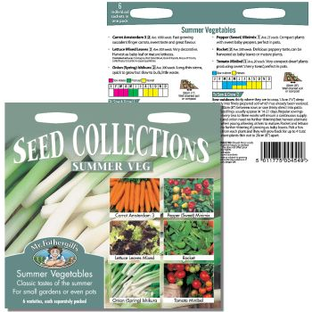 Mr. Fothergill Summer Vegetable Seed Collection available from Strawberry Garden Centre, Uttoxeter