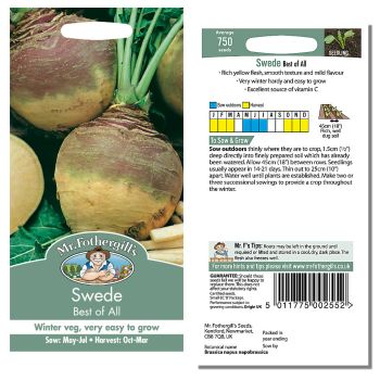 Mr. Fothergill Swede Best of All Seeds available from Strawberry Garden Centre, Uttoxeter