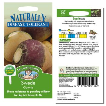 Mr. Fothergill Swede Gowrie Seeds available from Strawberry Garden Centre, Uttoxeter