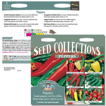 Mr. Fothergill Pepper Seed Collection available from Strawberry Garden Centre, Uttoxeter