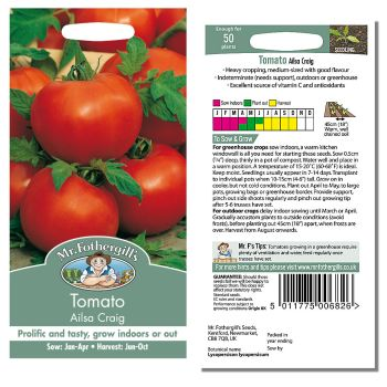 Mr. Fothergill Tomato Ailsa Craig Seeds available from Strawberry Garden Centre, Uttoxeter