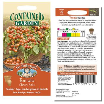 Mr. Fothergill Tomato Cherry Falls Seeds available from Strawberry Garden Centre, Uttoxeter