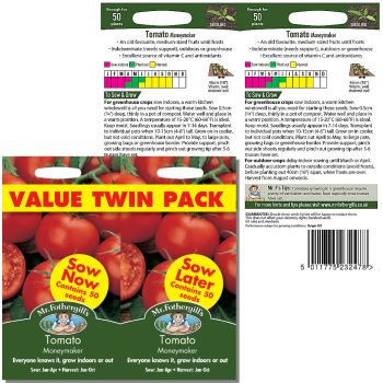 Mr. Fothergill Tomato Moneymaker value twin pack Seeds available from Strawberry Garden Centre, Uttoxeter