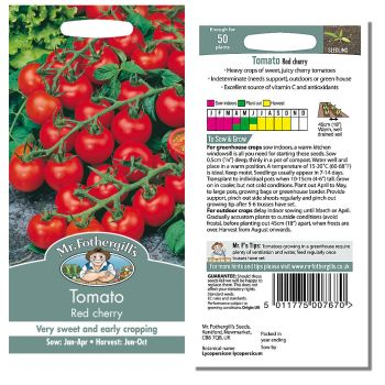 Mr. Fothergill Tomato Red Cherry Seeds available from Strawberry Garden Centre, Uttoxeter