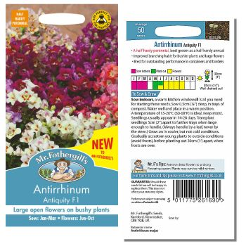 Mr. Fothergill Antirrhinum Antiquity F1 Seeds available from Strawberry Garden Centre, Uttoxeter