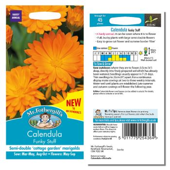 Mr. Fothergill Calendula Funky Stuff Seeds available from Strawberry Garden Centre, Uttoxeter