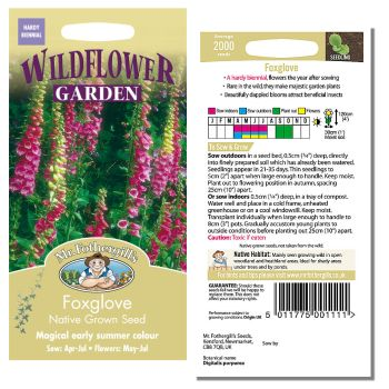 Mr. Fothergill Foxglove Native Grown Seeds available from Strawberry Garden Centre, Uttoxeter