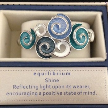 Equilibrium 274342 Marine Tones Swirls Half Bracelet available from Strawberry Garden Centre, Uttoxeter