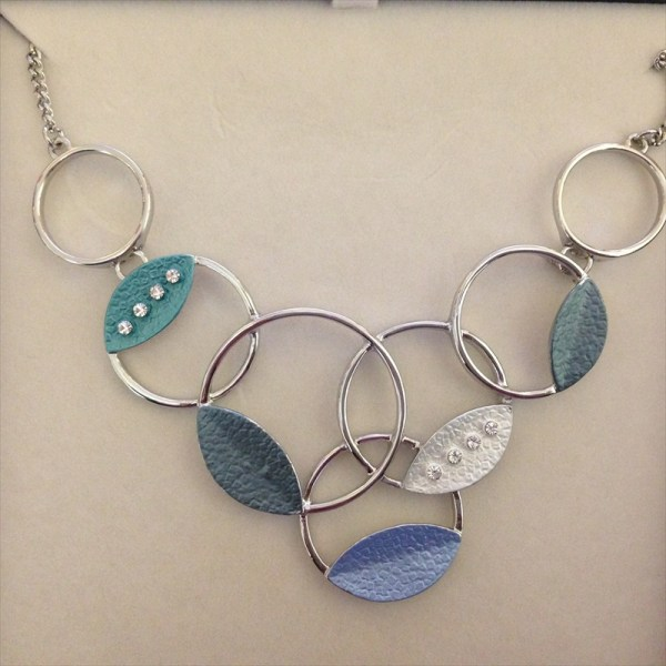 Equilibrium 274562B Marine Tones Loops Necklace available from Strawberry Garden Centre, Uttoxeter