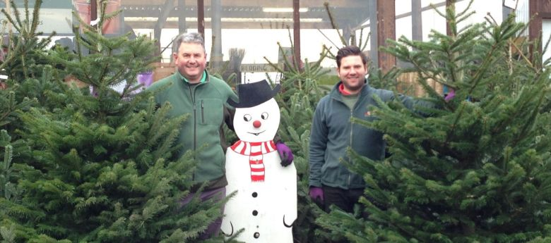 christmas trees available from Strawberry Garden Centre, Uttoxeter website