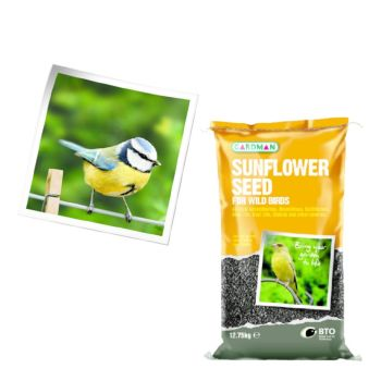 Gardman A05130 Sunflower Seed 12.75kg available from Strawberry Garden Centre, Uttoxeter