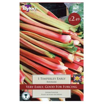 Taylors Bulbs SVEG6A Rhubarb Timperley Early available from Strawberry Garden Centre, Uttoxeter