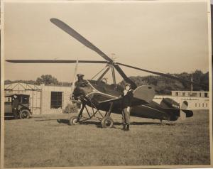 Anne West Strawbridge with Autogiro