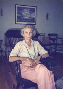 Mary Lowber Knight in Camden, Maine, Summer 1987