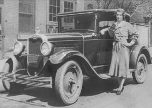 Mary Sailer with Car