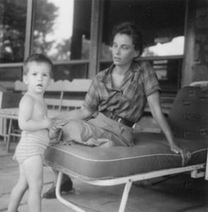 Mary White with Alexander White Ca. 1951