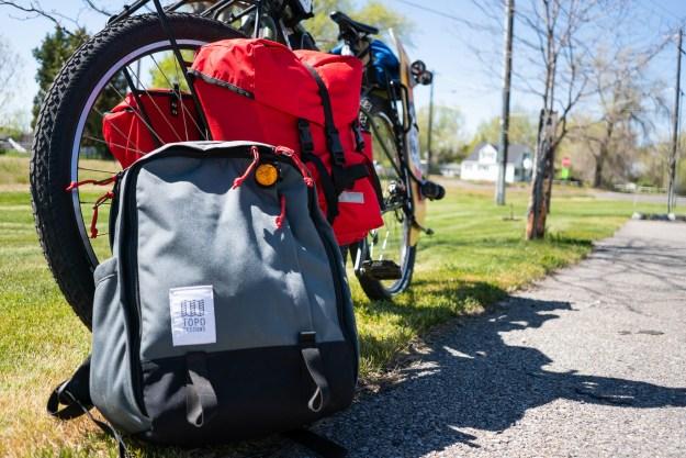 Topo Core Pack on a bike trip