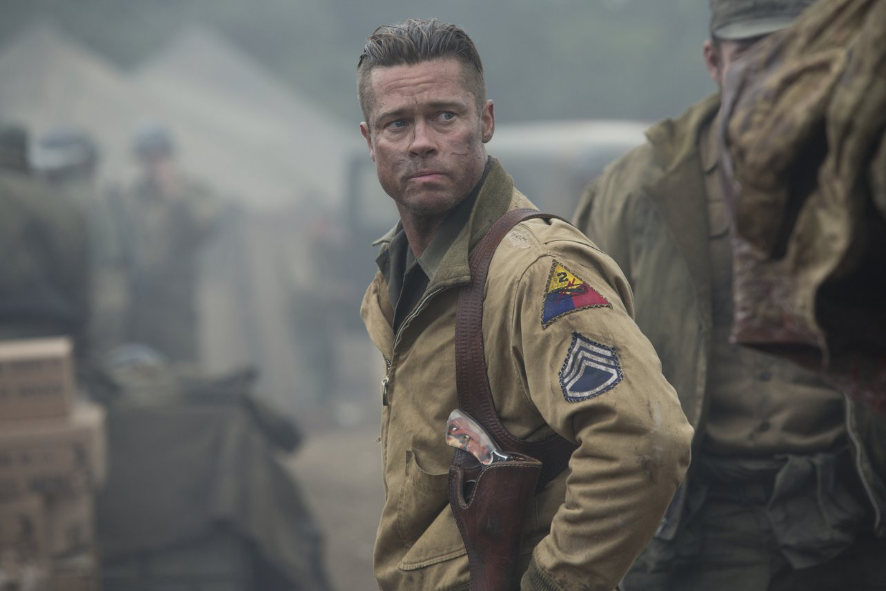 Brad Pitt Fury 2014 Movie Hairstyle StrayHair