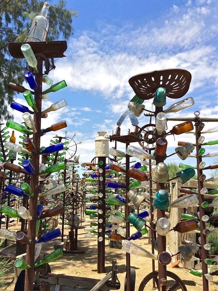 Elmer's welding skills helped grow his forest of bottle trees starting in 2000.