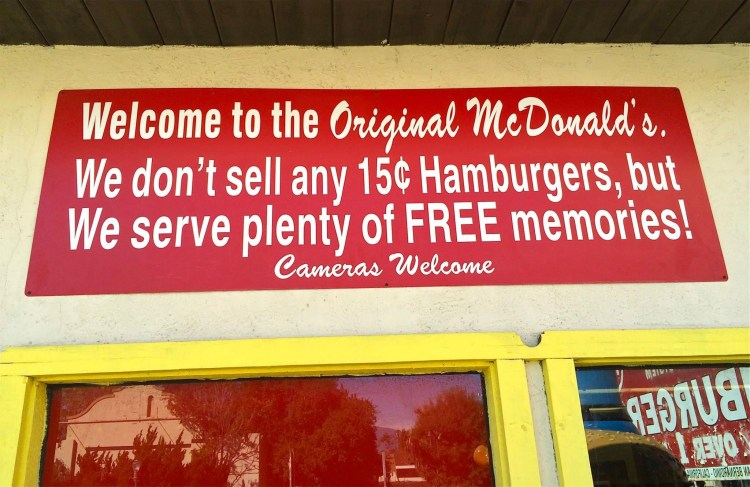 """McDonald's Corp. has also warned Okura not to refer to his collection of memorabilia as a """"McDonald's Museum."""" Now he is careful to call it the """"historic site of the original McDonald's restaurant."""""""