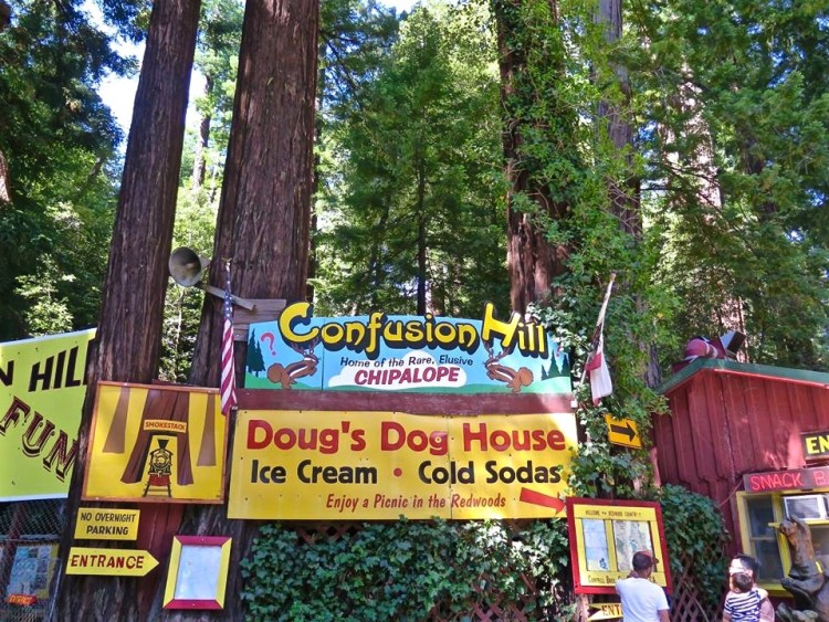 It's hard to miss Campbell Brothers World Famous Confusion Hill.