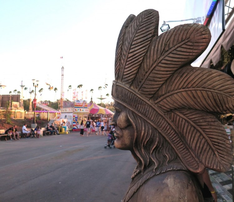 Native American history at the LA County Fair.
