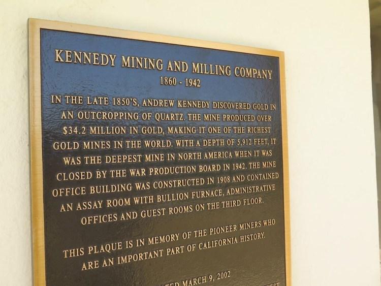 Pioneer miners tribute.